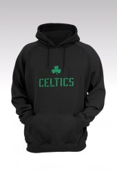 Boston Celtics 27 Siyah Kapşonlu Sweatshirt - Hoodie