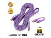 ROSE 5Metre Flat HDMI Kablo 1.4v Eflatun