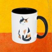 eKUPAM Tatlı Kedi Siyah Beyaz Kupa Bardak - 0235