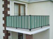 Ceylan Home Balkon Demiri Perdesi  Bağcıklı En 450 Boy 80 Yeşil