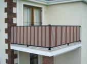 Ceylan Home Balkon Demiri Perdesi  Bağcıklı En 450 Boy 80 Kahverengi