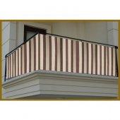 Ceylan Home Balkon Demiri Perdesi  Bağcıklı En 500 Boy 80 Kahverengi