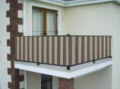 Ceylan Home Balkon Demiri Perdesi  Bağcıklı En 500 Boy 80 Gri Krem