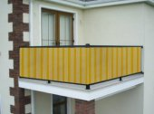 Ceylan Home Balkon Demiri Perdesi  Bağcıklı En 550 Boy 80 Sarı