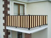 Ceylan Home Balkon Demiri Perdesi Bağcıklı 550 X 80 Kahverengi Sarı