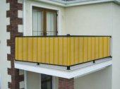Ceylan Home Balkon Demiri Perdesi  Bağcıklı En 650 Boy 80 Sarı