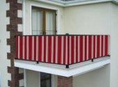 Ceylan Home Balkon Demiri Perdesi  Bağcıklı En 650 Boy 80 Kırmızı