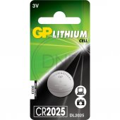 Gp CR2025-U1 3V Lityum Düğme Pil Tekli Paket
