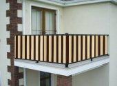 Ceylan Home Balkon Demiri Perdesi Bağcıklı 650 X 80 Kahverengi Sarı