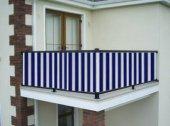 Ceylan Home Balkon Demiri Perdesi  Bağcıklı En 700 Boy 80 MAVİ