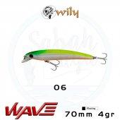 Wily Wave 70F 7cm 4gr No:06 Maket Balık