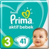 Prima Bebek Bezi Aktif Bebek 3 Beden Plus Paket 41 Adet