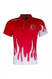 Uhlsport Türkiye Alev Desenli Polo Tişört Kırmızı