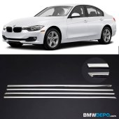 BMW F30 3 SERİSİ KROM CAM ÇITASI ALT KISIM 4 PRÇ MÜKEMMEL GÖRÜNÜM
