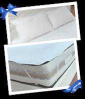 DİMA - Yatak+Yastık Koruyucu Elastik Bantlı Havlu Tipi Çift Kişilik Alez