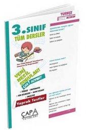 3.Sınıf Tüm Dersler Soru Bankası Çapa Yayınları Yaprak Test