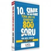 10.Sınıf Türk Dili ve Edebiyatı Soru Bankası Çapa Yayınları