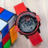 Şık Kırmızı Kordon WatchART Alarmlı Dijital Su Geçirmez Çocuk Kol Saati