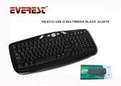 Everest KB-831U Siyah Q Usb Multimedya Kablolu 111 Tuşlu Klavye