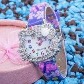 Pinkoli Kelebek Desenli Şık Trend Kız Çocuk Kol Saati-Mor