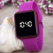 Touche Watch Fuşya Renk Silikon Kordonlu Dokunmatik Led Bayan Saat
