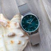 Silver Yeşil Trend Gümüş Renk Çelik Kasa Silver Hasır Kordonlu Spectrum Marka Bayan Kol Saati ST-303398