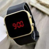 Sarı Renk Dijital Led  Bileklik Unisex Kol Saat Siyah Silikon Kordon Yeni Sezon ST-303543