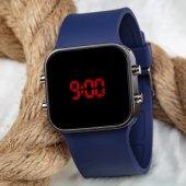 Dijital Lacivert Kordon Yeni Model Süper Led Kol Saati Silikon Tasarımlı Bileklik ST2-303057