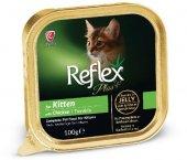 Reflex Plus Kitten Yavru Kedi Konservesi Tavuklu 100 Gr