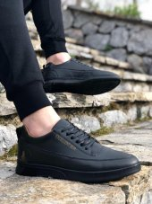 BA0041 Excellent Bağcıklı Siyah Sneaker Casual Erkek Spor Ayakkabı