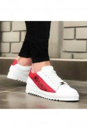 BA0027 No Limits Beyaz Kırmızı Bağcıklı Casual Erkek Spor Ayakkabı