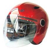Motosiklet Kask Çenesiz 601 Model Kırmızı Beden:l Free-m