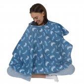 Sevi Bebe Anne Emzirme Örtüsü Önlüğü ART-6280 Tüy Desen