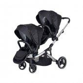 Prego 2071 İbiza Pro İkiz Bebek Arabası Siyah