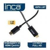 Inca IDPH-18T Displayport To Hdmı Kablo 1.8mt