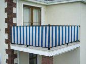 Ceylan Home Balkon Demiri Perdesi Kuş Gözü Metal Halka 500x75