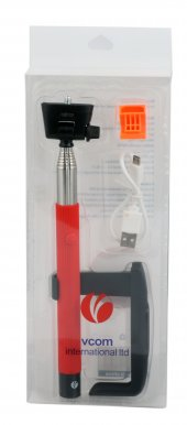 Vcom M404 Bluetooth Kırmızı Selfie Çekim Çubuğu