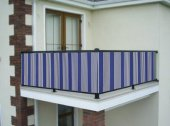Ceylan Home Balkon Demiri Perdesi Kuş Gözü Metal Halka 650 X75