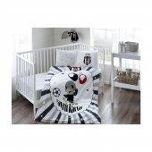 Taç Lisanslı Bebek Nevresim Takımı Beşiktaş Balloon Baby