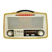 Kemai MD-1700BT Nostalji Radyo Şarjlı Bluetooth FM Radyo USB SD