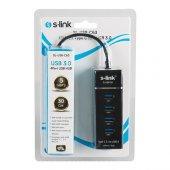 S-link SL-USB-C63 Usb 3.1 Type-c To 4 Port Çevirici