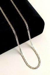Piraye Silver 925 Ayar Gümüş Barlı Zincir 2 Mm 60 Cm PRY-GMS-0190