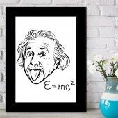 Albert Einstein Tasarımlı İsim Yazılı Çerçeve -15