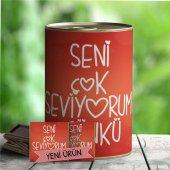 Seni Çok Seviyorum Yazılı Romantik Çikolata Konservesi