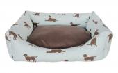Markapet Köpek Desenli Köpek Yatağı X Large 80*100 cm Turkuaz