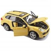 Burago 1:24 Porsche Cayenne Turbo Plus Sarı Model Araba