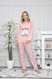 Kadın Pijama Takımı Best Friends Pijama Tampap 7428