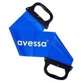 Avessa Tutamaçlı Pilates Bandı Sert Direnç Mavi