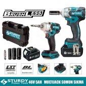 Sturdy Power Tools Brushless DC Motor 46 Volt 5.0 Ah Darbeli Somun Sıkma & Vidalama Özelliği