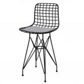 Knsz ufak boy tel bar sandalyesi 1 li uslu syhtalen 55 cm oturma yüksekliği mutfak bahçe cafe ofis